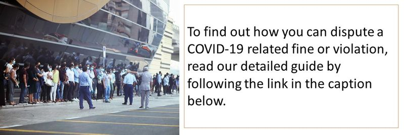 To find out how you can dispute a COVID-19 related fine or violation, read our detailed guide by following the link in the caption below.