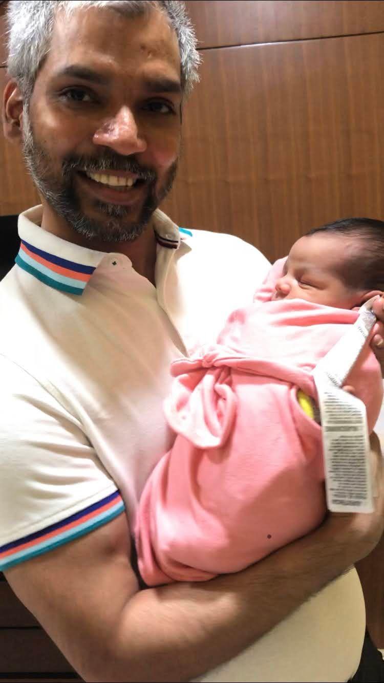 Eshita's husband and the baby