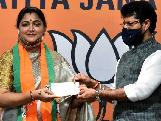 Khushboo joins BJP