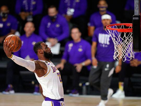 LeBron James dunks