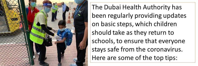 The Dubai Health Authority has been regularly providing updates on basic steps
