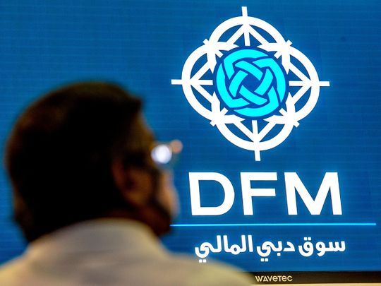 Stock DFM Dubai stock market traders