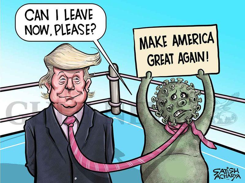 Cartoon from Satish: Trump and the coronavirus