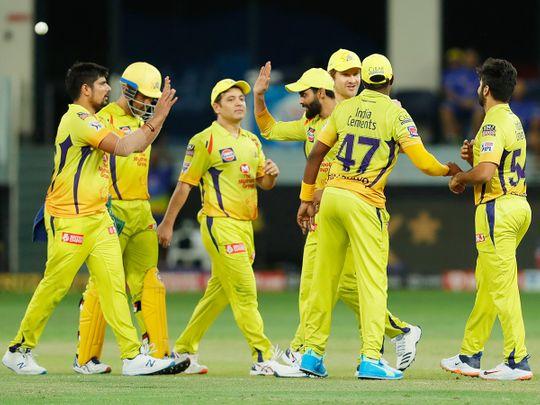 Chennai Super Kings players c