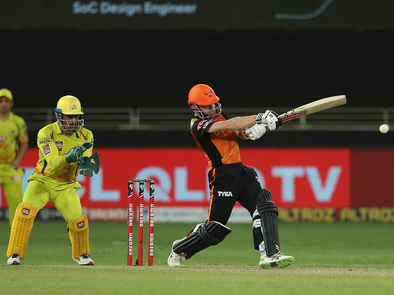Kane Williamson of Sunrisers Hyderabad during match 29 of season 13 of the Dream 11 Indian Premier League (IPL) between the Sunrisers Hyderabad and the Chennai Super Kings held at the Dubai International Cricket Stadium, Dubai in the United Arab Emirates on the 13th October 2020. Photo by: Ron Gaunt / Sportzpics for BCCI