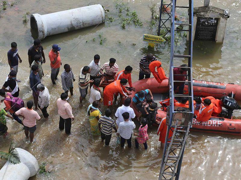 NDRF flood Hyderabad