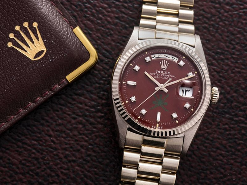 Rolex-Khanjar-White-Gold--Day-Date-with-Oxblood-Dial,-Ref