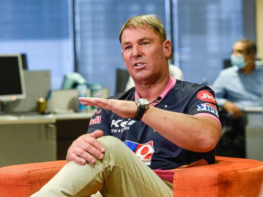 Shane Warne at Gulf News