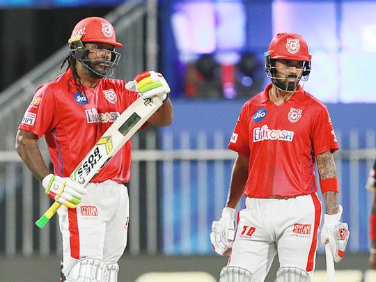 Chris Gayle (left) and KL Rahul