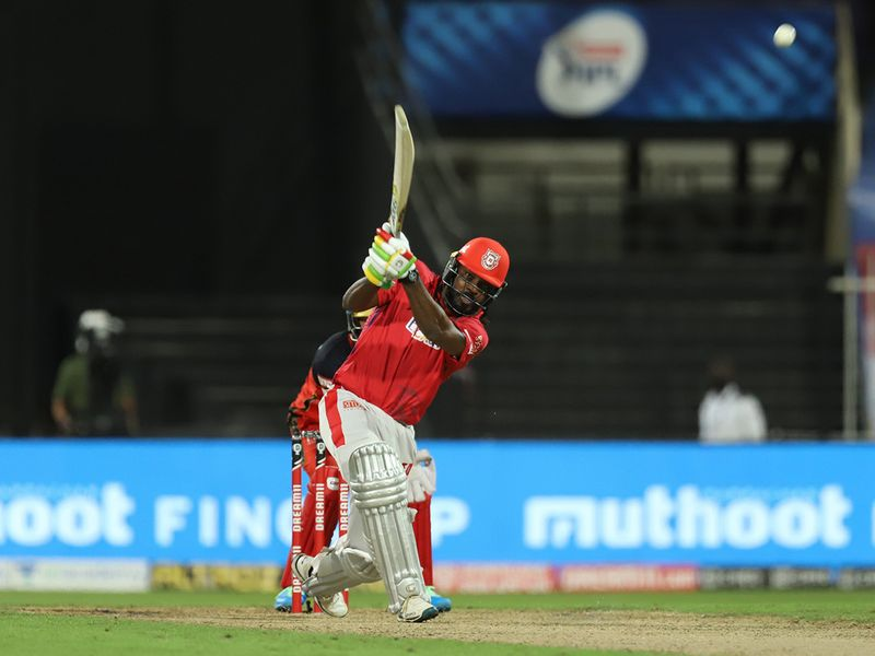 Chris Gayle of Kings XI Punjab during match 31 of season 13 of the Indian Premier League