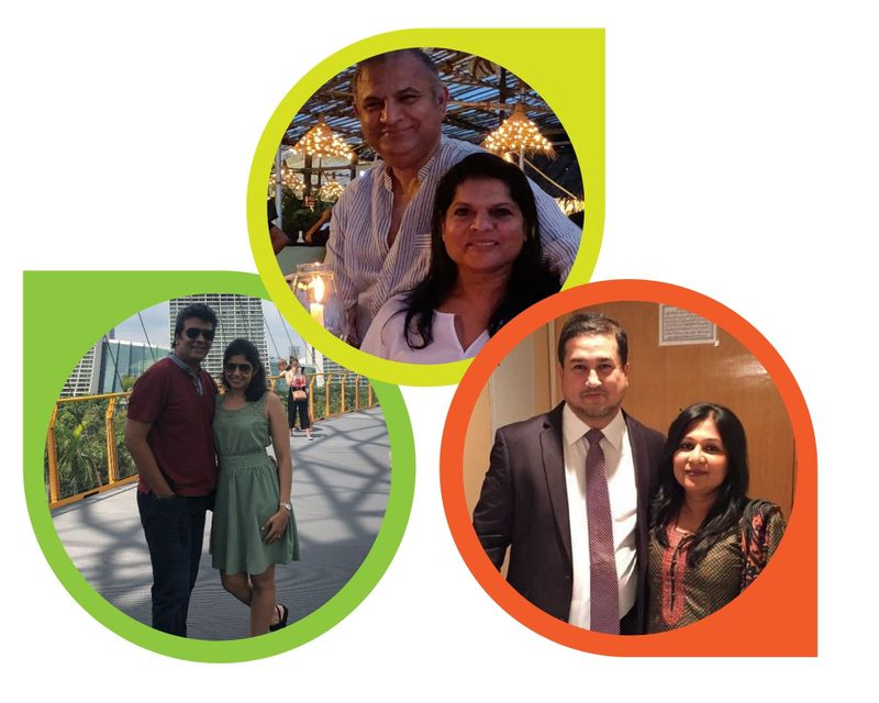 MIXED COUPLES: Amir and Namita Saifi, Shaheen and Ashwin Nair, Tariq Chauhan with wife Lovita.