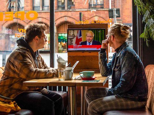Boris Johnson screen pub
