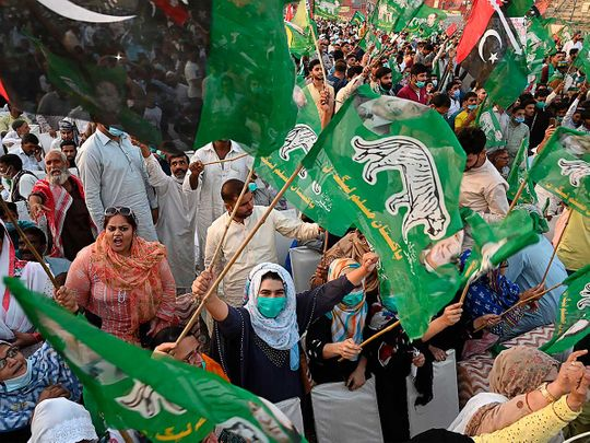 Pakistan Democratic Movement (PDM) protesters