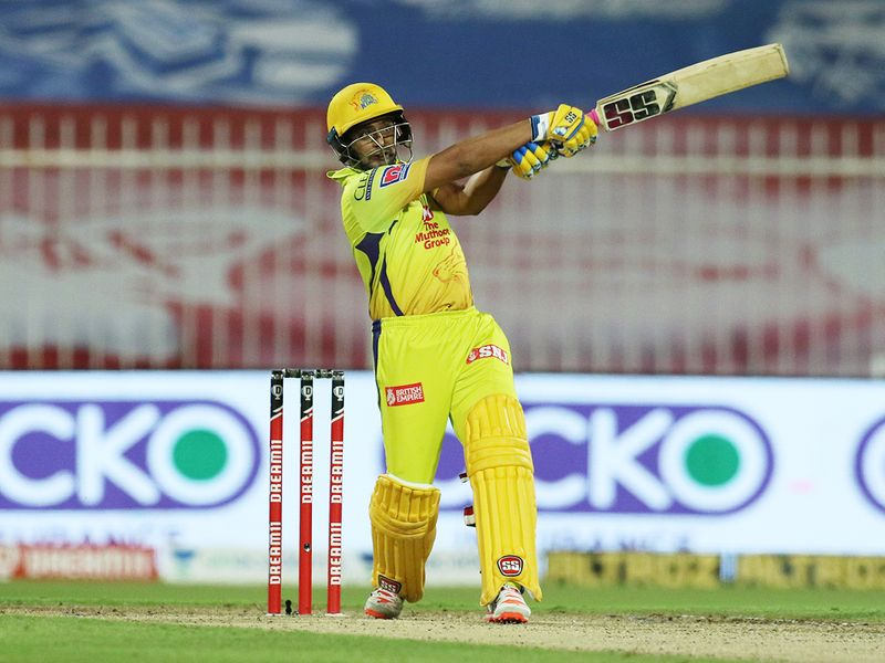 Ambati Rayudu of Chennai Superkings plays a shot.