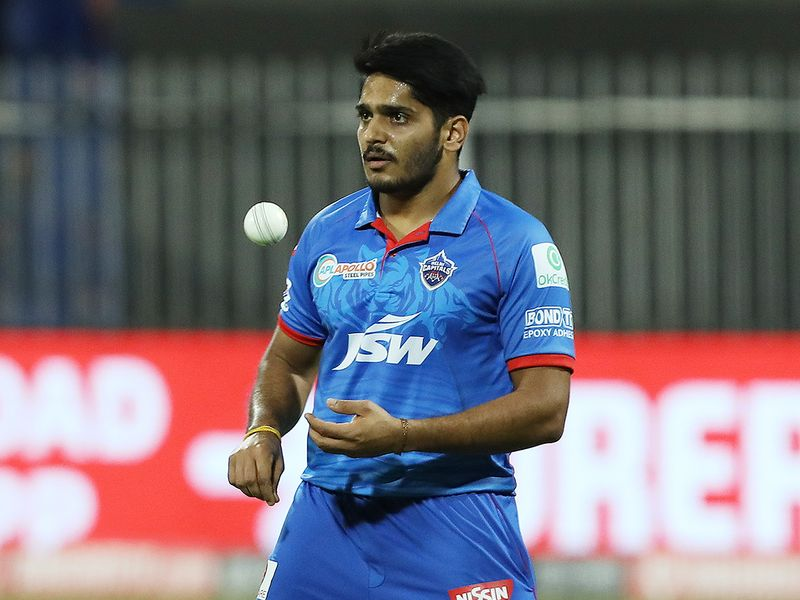 Tushar Deshpande of Delhi Capitals in action.