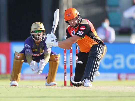 Jonny Bairstow of Sunrisers Hyderabad plays a shot.