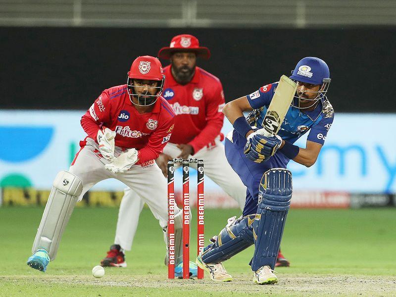 Krunal Pandya of Mumbai Indians bats during the match.