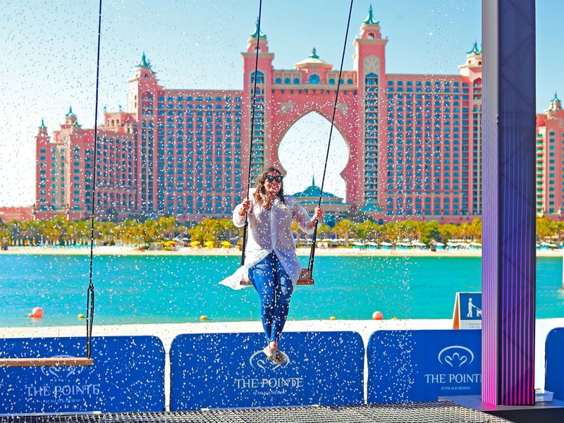 Water Swing on Palm Jumeirah