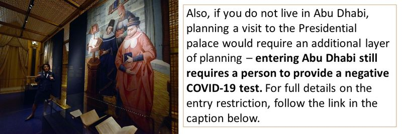 Entering Abu Dhabi still requires a person to provide a negative COVID-19 test.