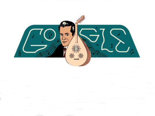 Famed Egyptian composer Farid El Atrash celebrates 110th birthday with a Google Doodle
