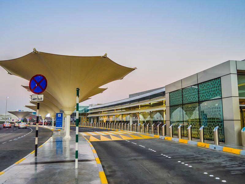 Stock Abu Dhabi International airport
