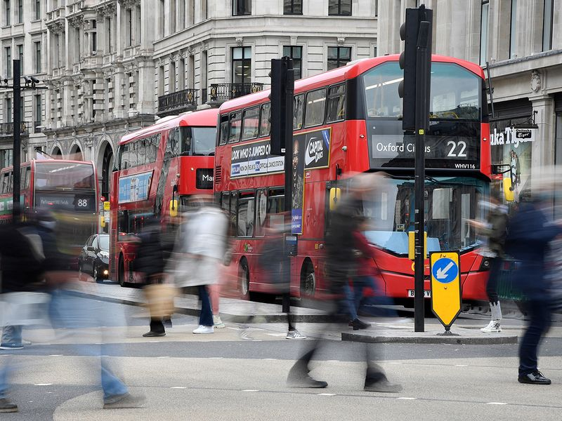 Stock London Britain UK economy people