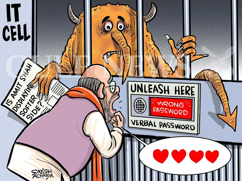 20201021 amit shah cartoon from satish
