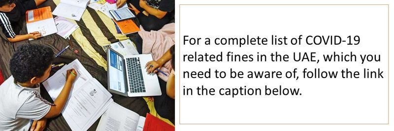 For a complete list of COVID-19 related fines in the UAE, which you need to be aware of, follow the link in the caption below.