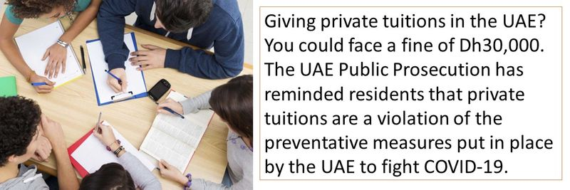 Giving private tuitions in the UAE? You could face a fine of Dh30,000.