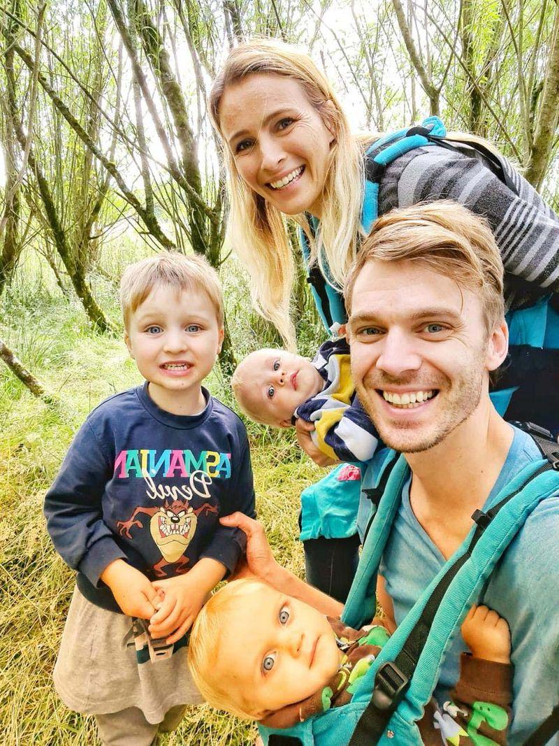 Laura Jane Paradoe and family.