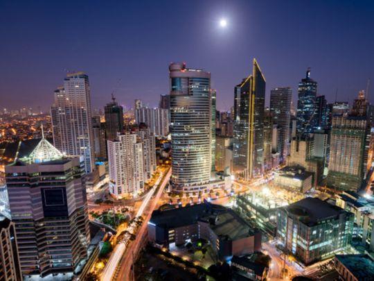 Philippines Makati skyline