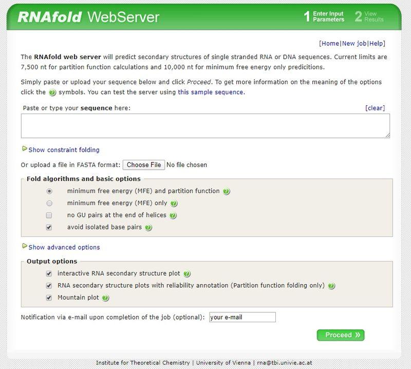 RNAFold web server
