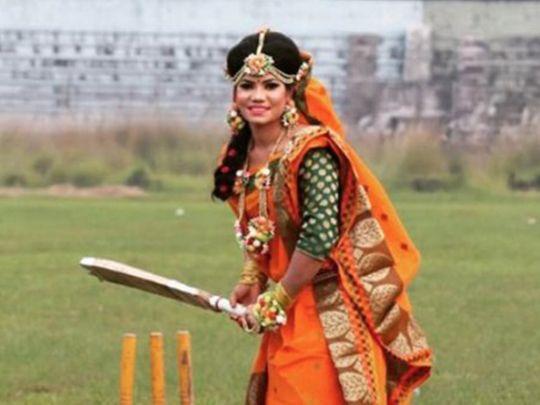 Bangladesh international cricketer Sanjida Islam went into bat for a special match in Bangladesh.