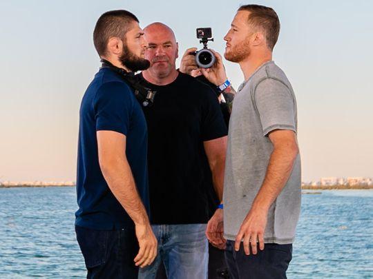 Khabib Nurmagomedov and Justin Gaethje face off on Yas Island in Abu Dhabi