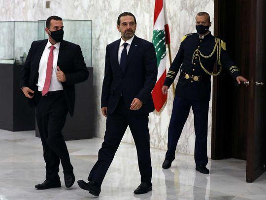 Lebanese leader Saad Hariri