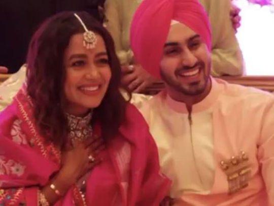Neha Kakkar and Rohanpreet's mehndi pictures go viral