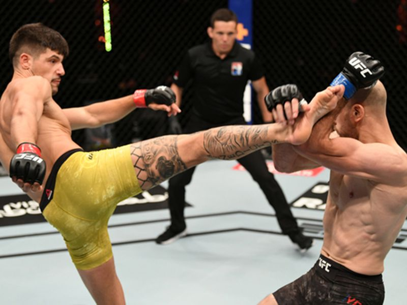 Joel Alvarez rocked the Octagon in Abu Dhabi
