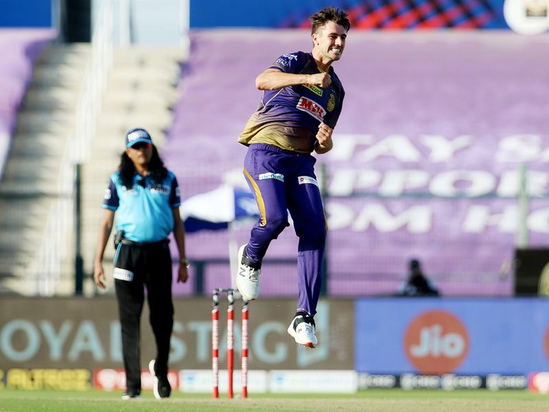 Pat Cummins of Kolkata Knight Riders