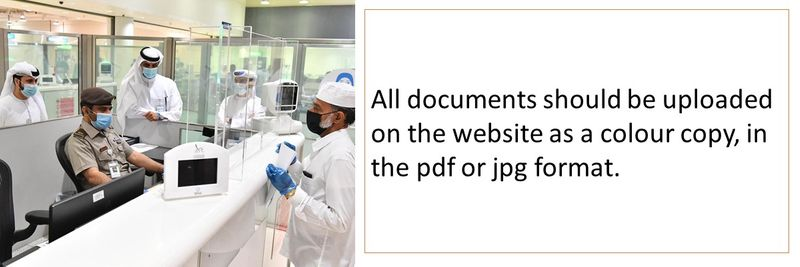 All documents should be uploaded on the website as a colour copy, in the pdf or jpg format.