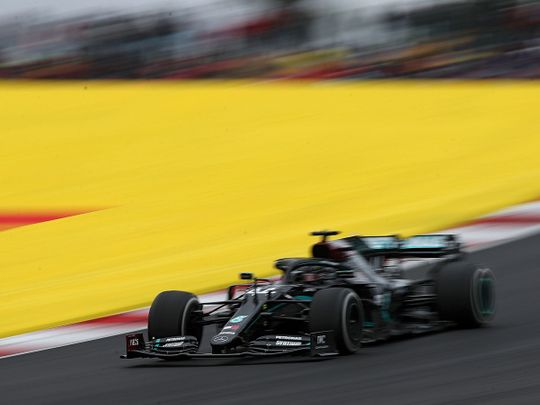 Lewis Hamilton overcame early scares to win in Portugal