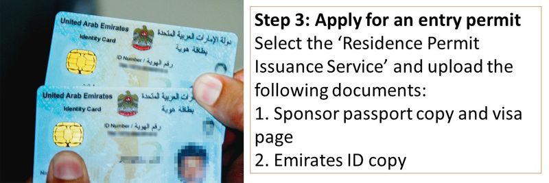 Select the 'Residence Permit Issuance Service' and upload the following documents