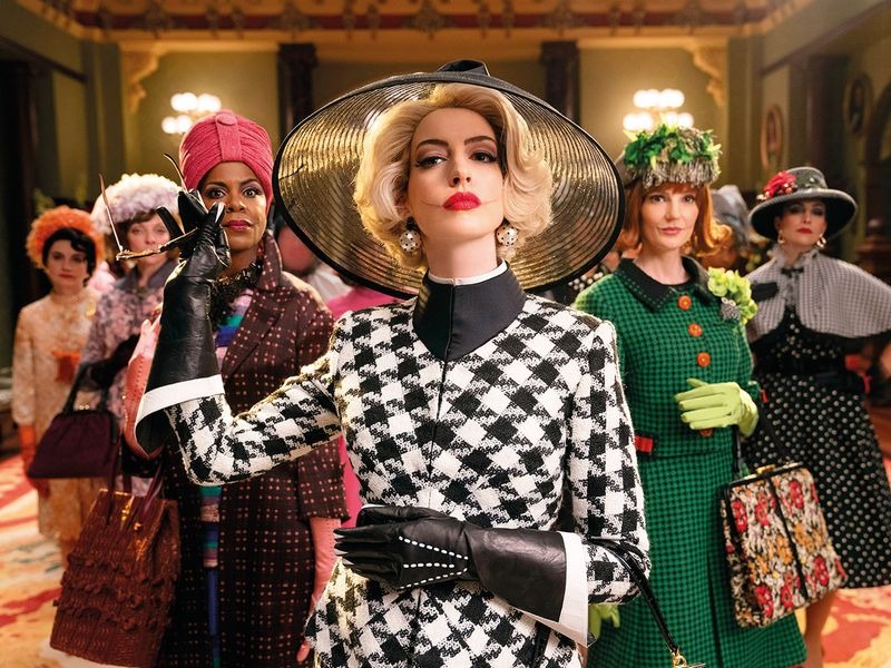 Anne Hathaway (center) in a scene from