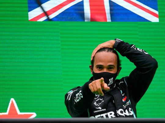 Lewis Hamilton won in Portugal