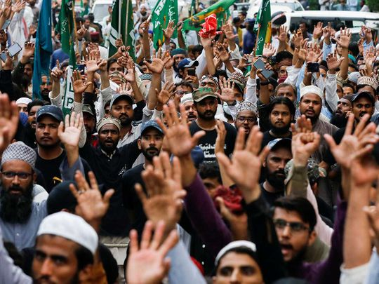 Pakistan charlie hebdo protests