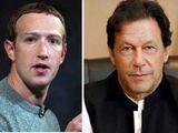 Pakistani Prime Minister Imran Khan (right) and Facebook CEO Mark Zuckerberg.