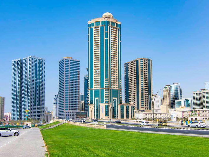 Stock - Sharjah Skyline New