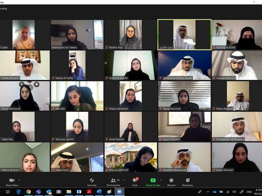 A virtual workshop organised by the Dubai Press Club