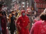 India women mask covid kashmir Jammu
