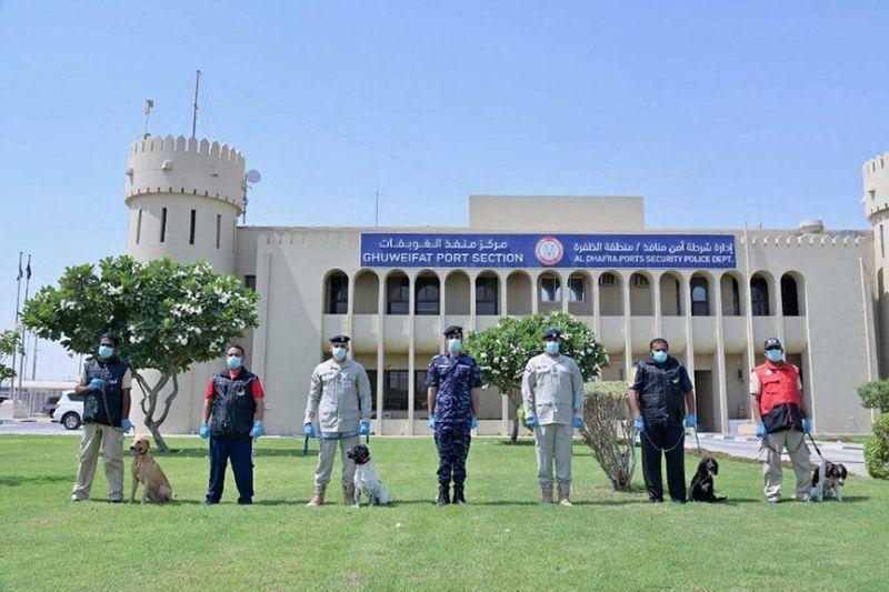 Police sniffer dogs in Abu Dhabi police