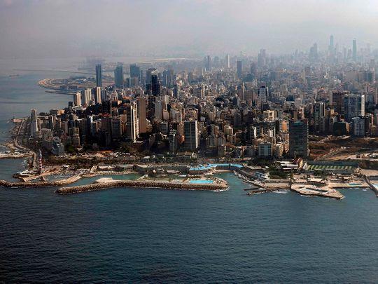 STOCK BEIRUT LEBANON SKYLINE
